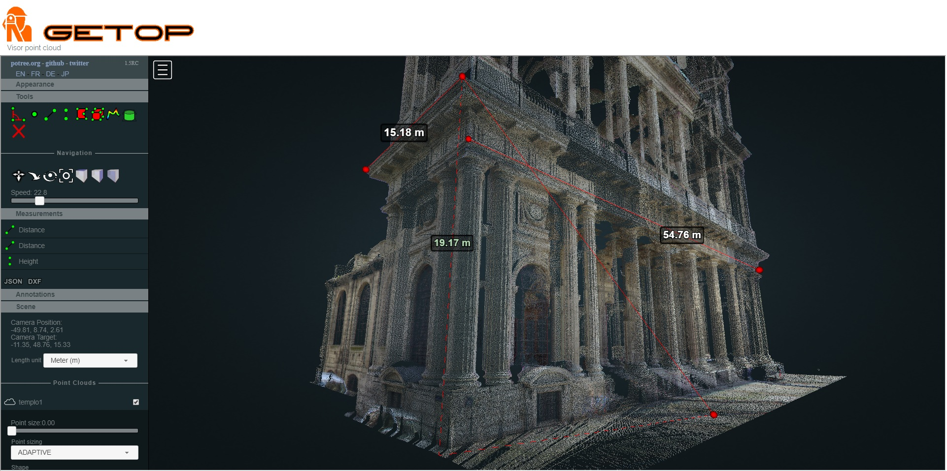 imagen visor point cloud getop